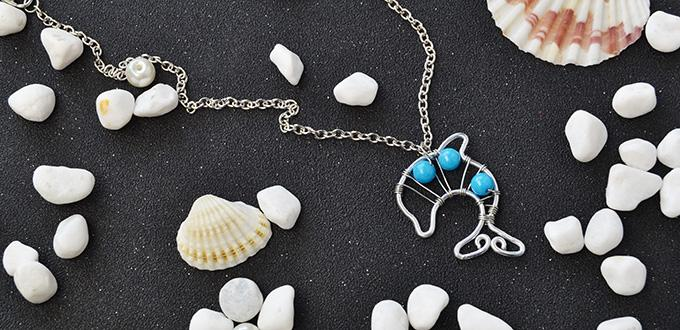 Valentine's Day Project – How to Make a Wire Dolphin Pendant Necklace