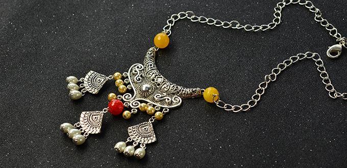 Pandahall original diy project how to make a vintage style big pandahall original diy project how to make a vintage style big pendant necklace mozeypictures Gallery