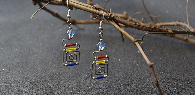Easy Earrings Design – How to Make a Pair of Wire Wrapped Bugle Bead Earrings
