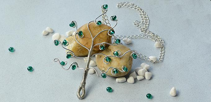 PandaHall Tutorial on How to Make a Wire Wrapped Tree Pendant for Home Decorating