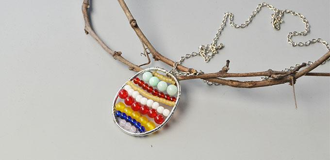 Easter Egg Jewelry - Tutorial on Making Easter Egg Pendant Necklace