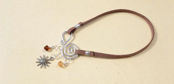 Pandahall Easy Tutorial - How to Make a Simple Suede Cord Charm Bracelet