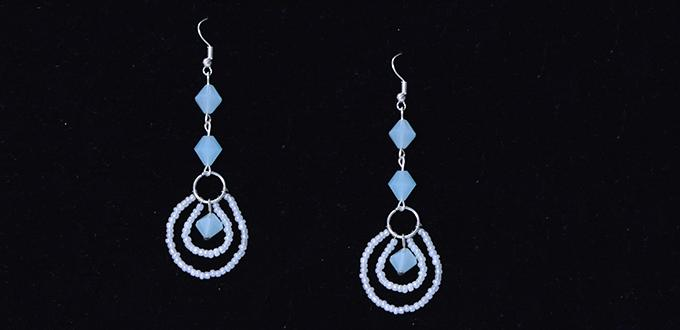 Tutorials on How to Make Kenneth Lane Seed Bead Pendant Earrings