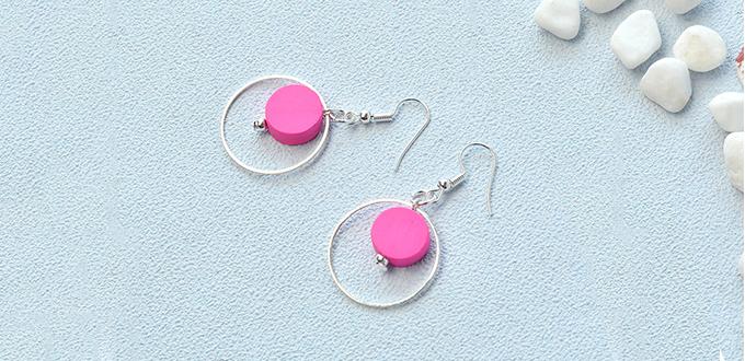 Beebeecraft Tutorial on making a pair of pink loop earrings