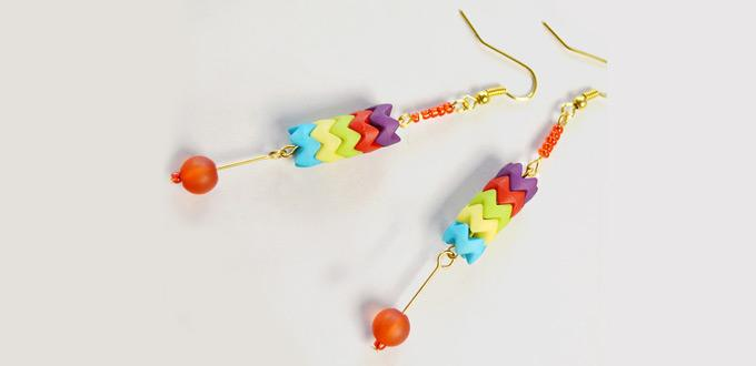 Easy Beebeecraft Tutorial - How to Make Colorful Beads Earrings with different Beads