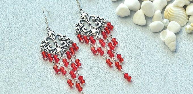Detailed Beebeecraft Tutorial on How to Make Chandelier Earrings with Glass Beads