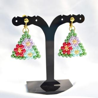 PandaHall Ideas on Making Colorful Beaded Flower Earrings
