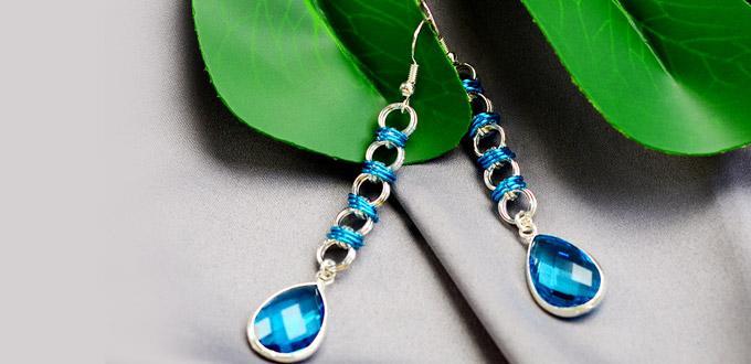 Beebeecraft Tutorials on Making a Pair of Shining Crystal Earrings