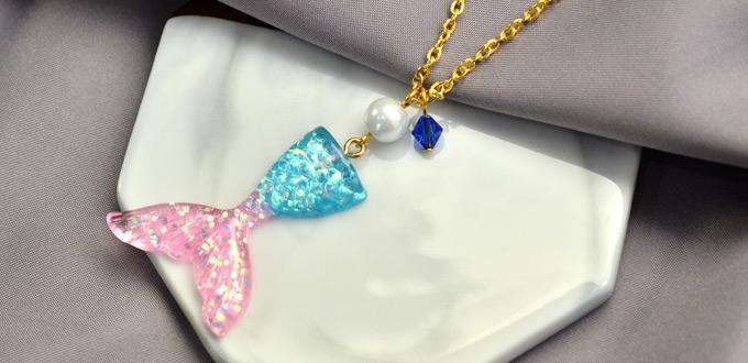 Beebeecraft Tutorials on How to Make a Simple and Beautiful Mermaid Necklace
