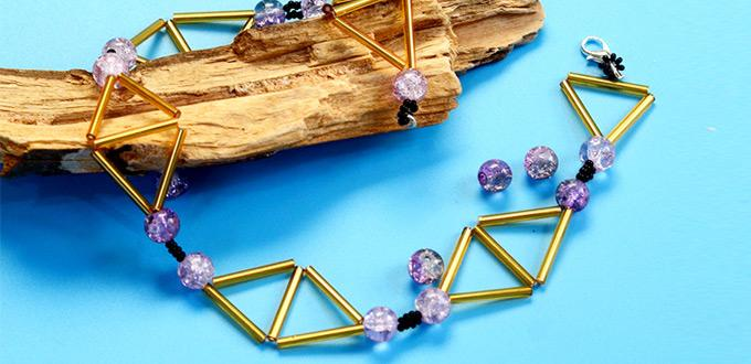 Beebeecraft Tutorials on Making Geometric Triangle Necklace