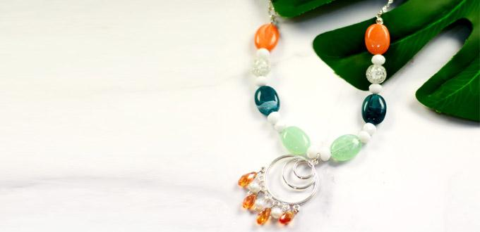 Beebeecraft Tutorials on Making Beaded Elegant Necklace