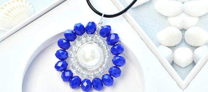 Beebeecraft Tutorials on Making a Round Pearl Necklace Pendant