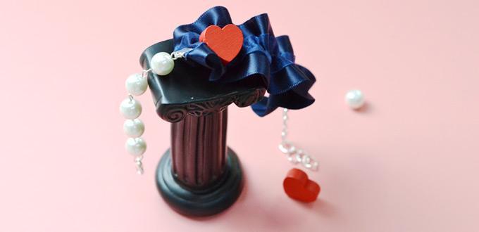 Beebeecraft Tutorials on How to Make Heart Ribbon Asymmetric Bracelet
