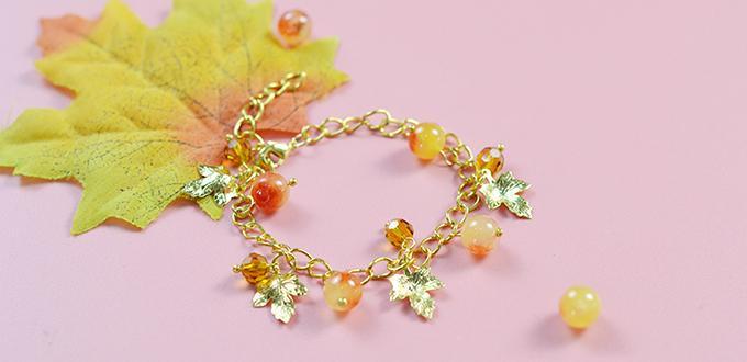 Beebeecraft Tutorials on How to Make Maple Leaf Bracelet