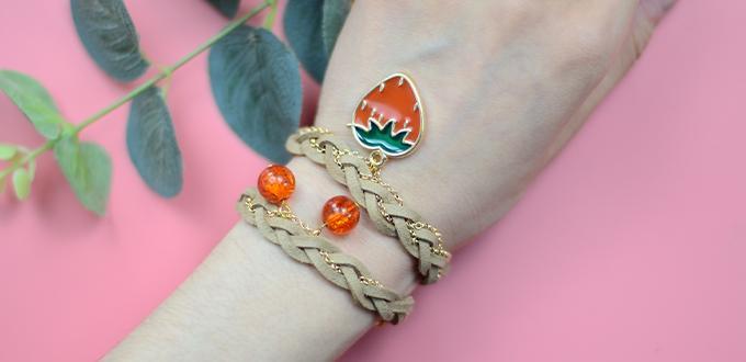 Beebeecraft Tutorials on How to Make Strawberry Bracelet