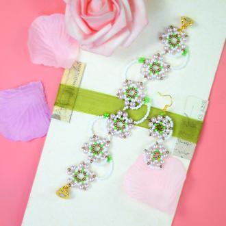 PandaHall Idea on Flower Shape Beaded Jewelry Set