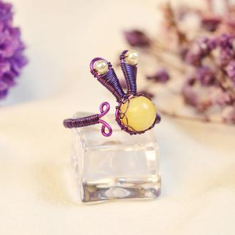 PandaHall Tutorial on Bunny Shape Wire Wrapped Ring
