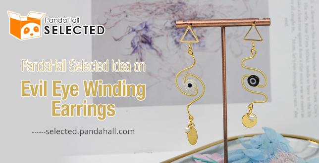 PandaHall Selected Idea on Evil Eye Winding Earrings