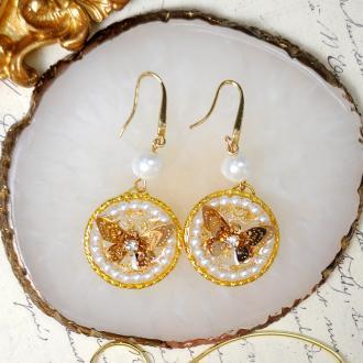 PandaHall Idea on Butterfly Epoxy Earrings