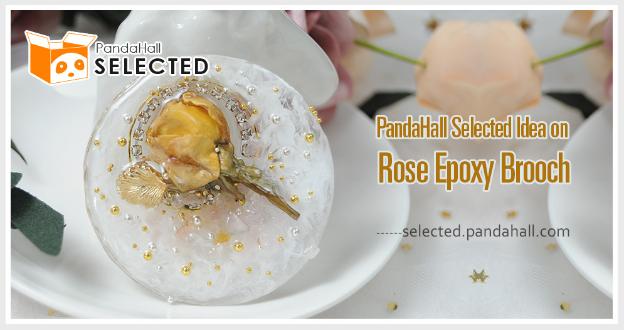 PandaHall Selected Idea on Rose Epoxy Brooch