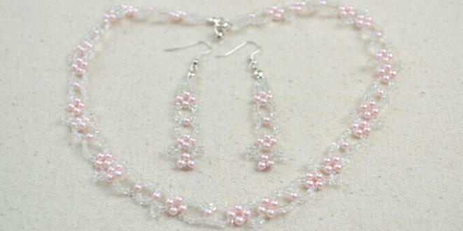 Beaded Bridal Jewelry Design - How to Make Elegant Wedding Jewelry with Pink Pearls and Seed Beads