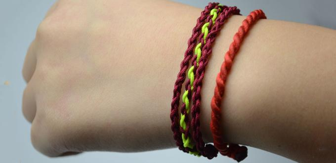How to Make 3-strand Braided Friendship Bracelet out of String
