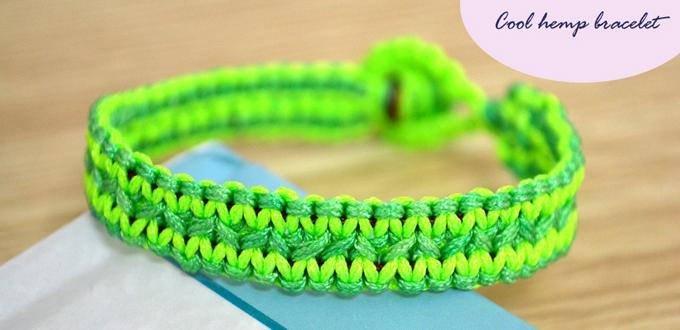 How To Finish A Cool Flat Hemp Bracelet In Fresh Style