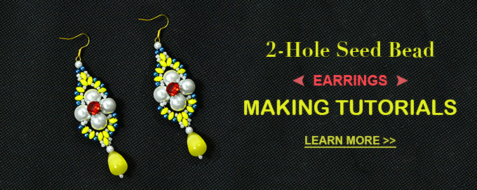 2-Hole Seed Bead Earrings Making Tutorials
