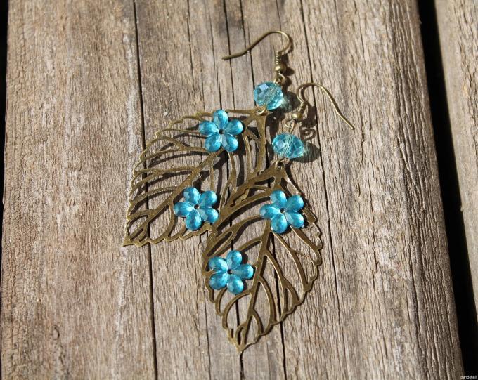 Tibetan Leaf Earrings