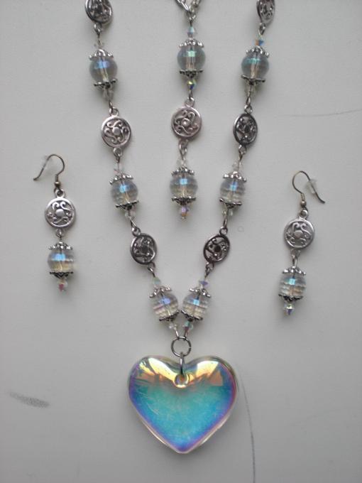 Crystal Charm Jewelry Set