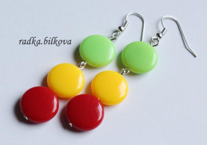 candy color dangle earrings