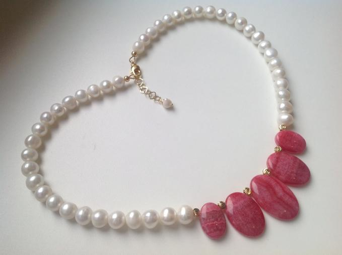 Pearl and Gem Necklace