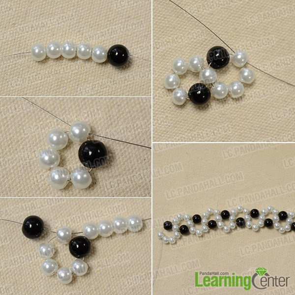 Make the fresh beading pattern