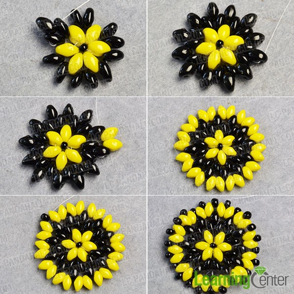 make the third part of the flower beads earrings