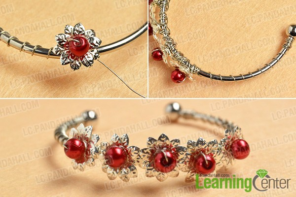 make the rest part of the silver flower bangle bracelet