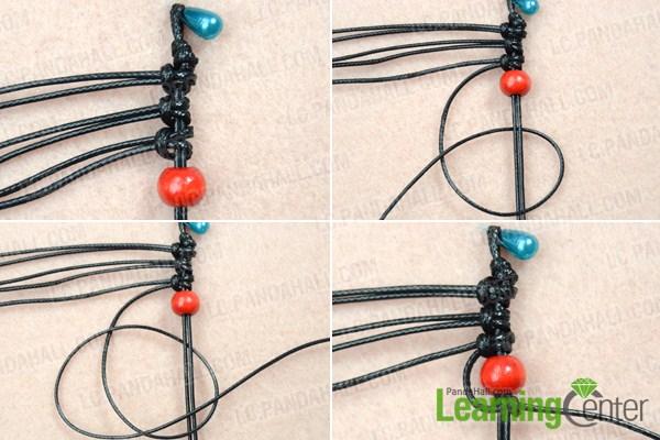 Make basic black and red earrings