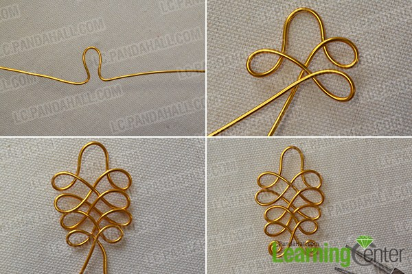 twist the golden aluminum wire