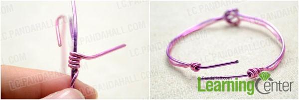 Wrap the bracelet ends
