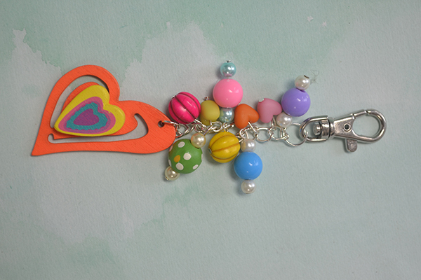Just with 2 steps, this colorful and cool key chain is finished!
