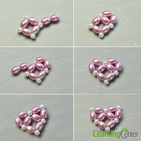 make the second part of the purple pearl heart pendant