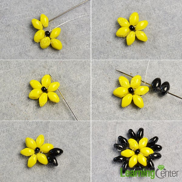make the second part of the flower beads earrings
