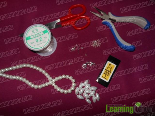 materials for making beade snowflake jewelry set