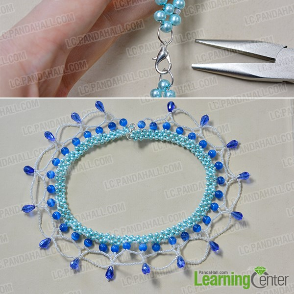 Finish the whole ocean style beaded collar necklace