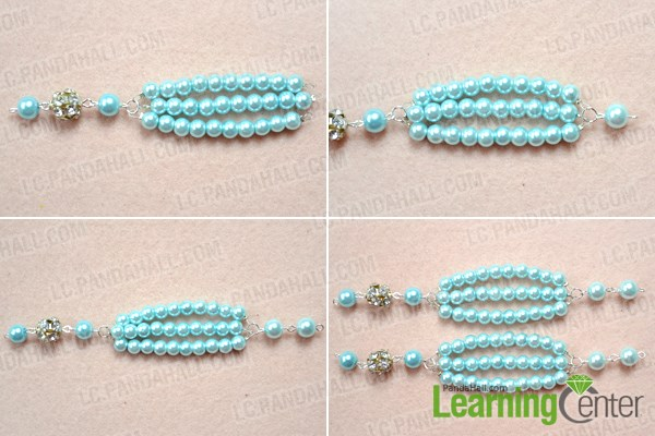Make the whole chain for the beaded long fashion necklace