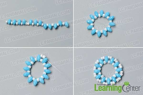 make the second part of the bead and wire flower chain necklace