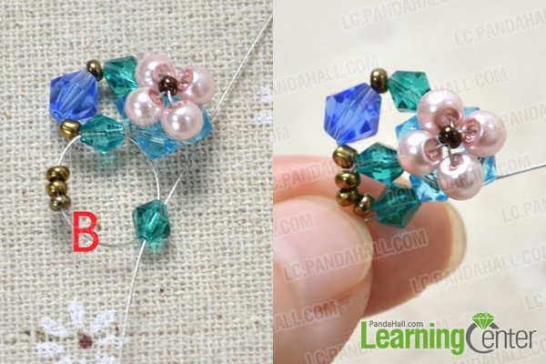 slide beads onto wires