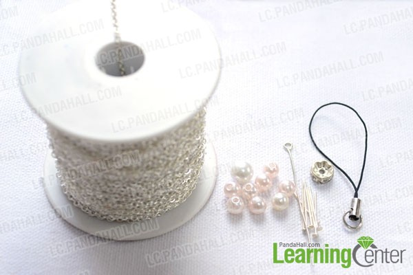 Materials you should prepare in the diy phone charm