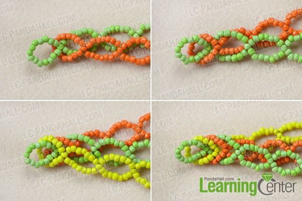 Make the pony bead cuff bracelet