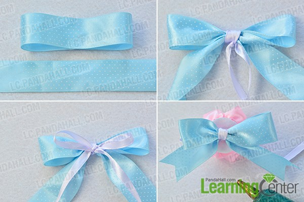 make the third part of the flower ribbon brooch
