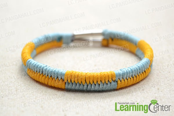 finished fishtail friendship bracelet pattern